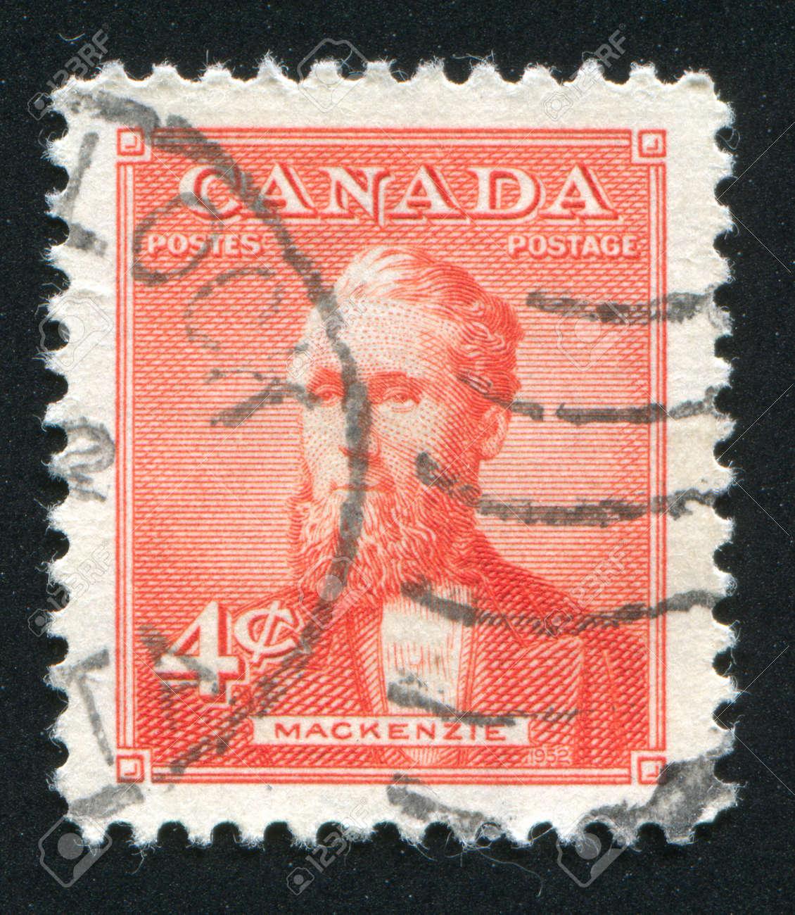 CANADA - CIRCA 1952: stamp printed by Canada, shows Alexander Mackenzie, circa 1952 Stock Photo - 9385295