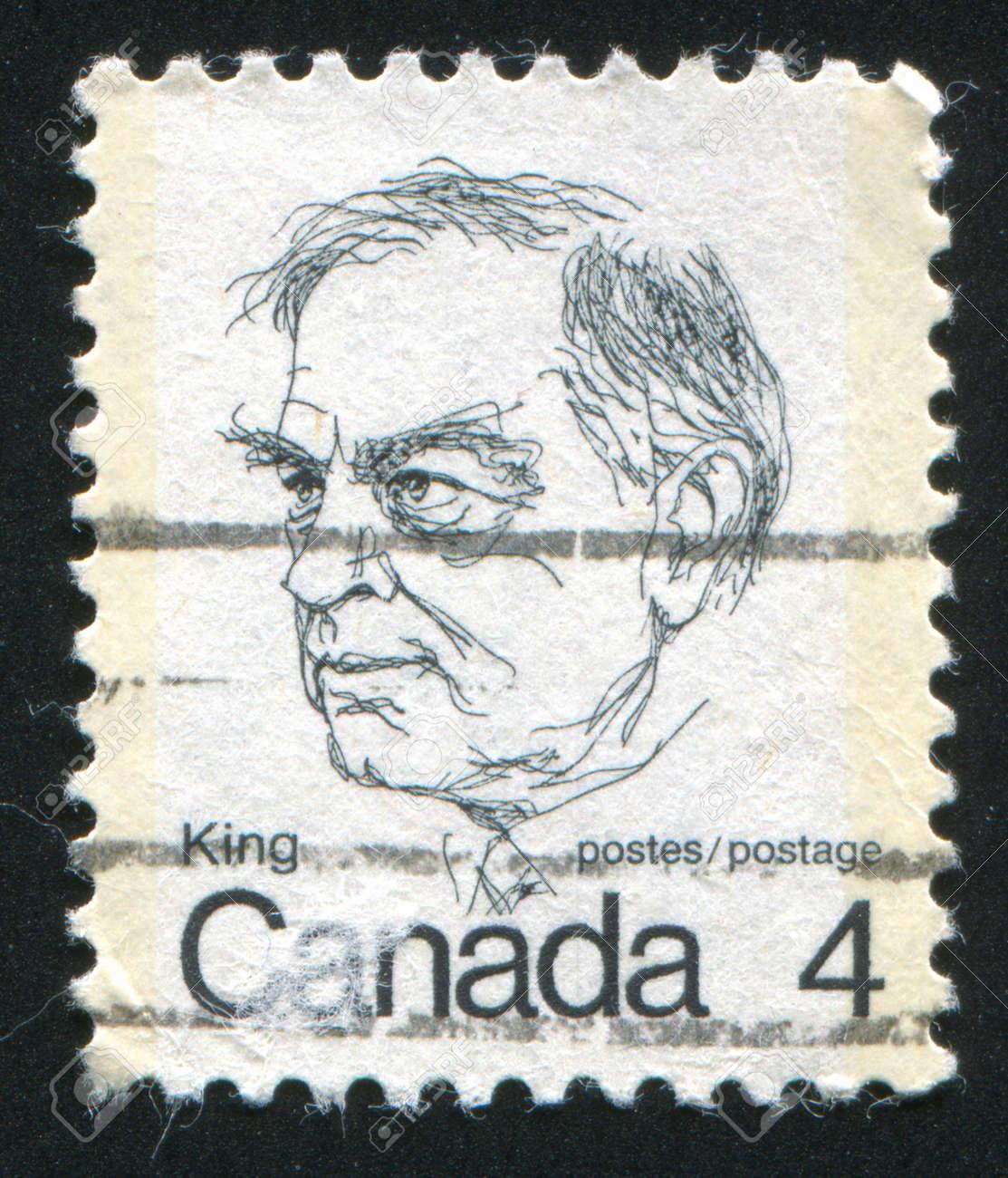 CANADA - CIRCA 1972: stamp printed by Canada, shows William Lyon Mackenzie King, circa 1972 Stock Photo - 9381222
