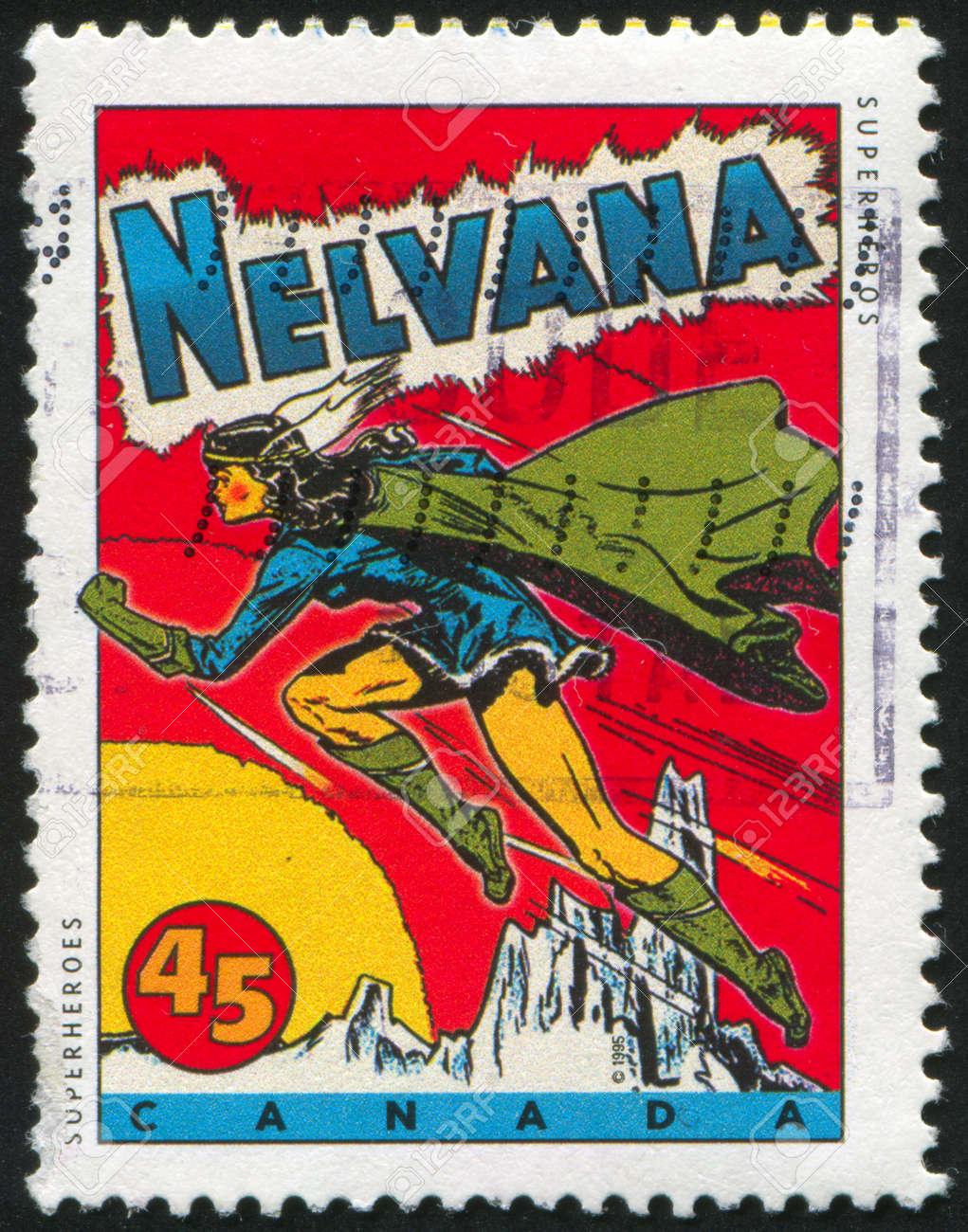 CANADA - CIRCA 1995: stamp printed by Canada, shows Comic Book Characters, Nelvana, circa 1995 Stock Photo - 9585159