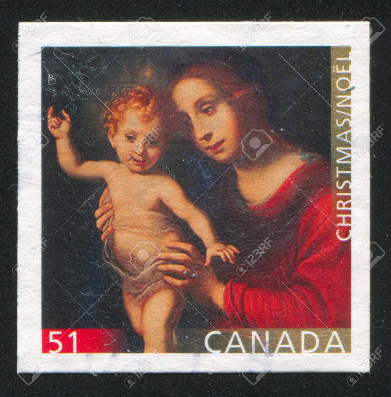 CANADA - CIRCA 2006: stamp printed by Canada, shows madonna, circa 2006 Stock Photo - 9585024