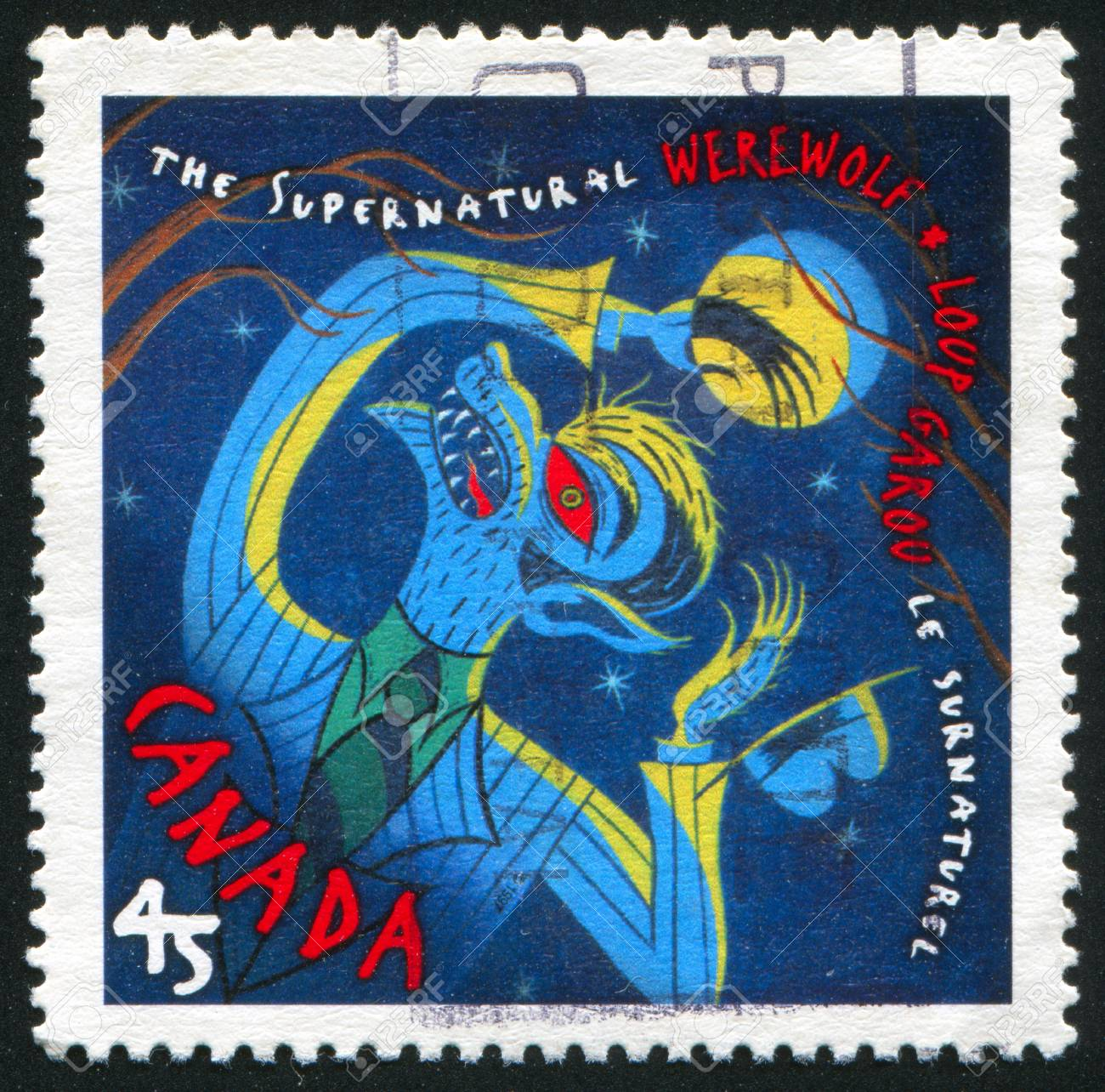 CANADA - CIRCA 1997: stamp printed by Canada, shows Werewolf, circa 1997 Stock Photo - 9834388