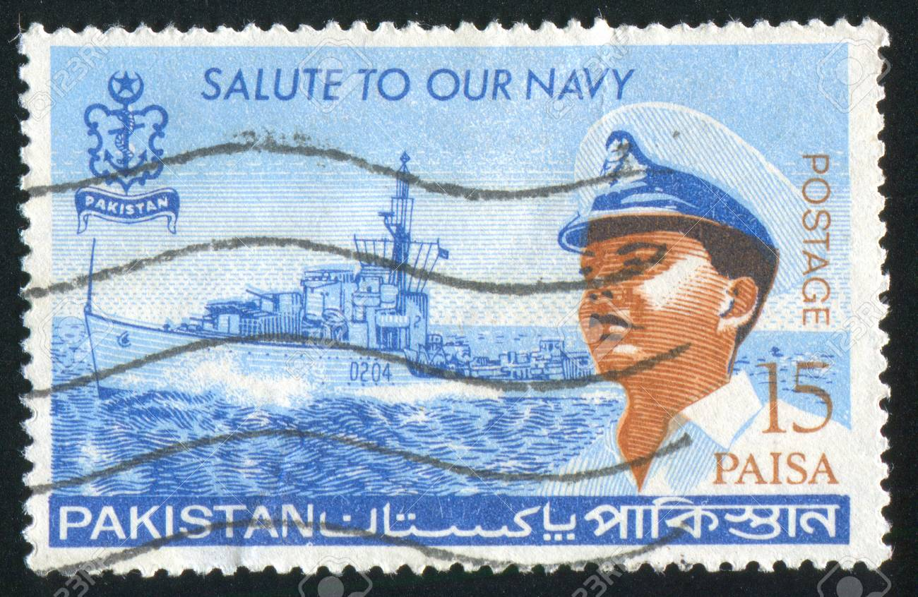 PAKISTAN - CIRCA 1965: stamp printed by Pakistan, shows officer, circa 1965. Stock Photo - 9957839