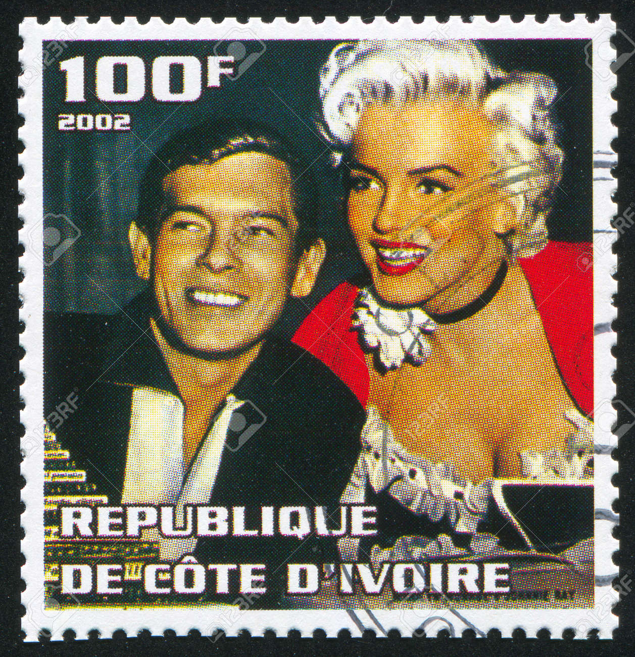 IVORY COAST - CIRCA 2002: stamp printed by Ivory Coast, shows Marilyn Monroe, circa 2002. Stock Photo - 13669264