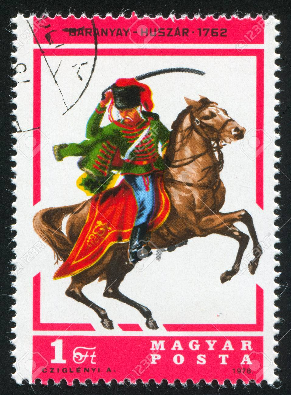 HUNGARY - CIRCA 1978: stamp printed by Hungary, shows Hussar Baranya, circa 1978 Stock Photo - 11755067