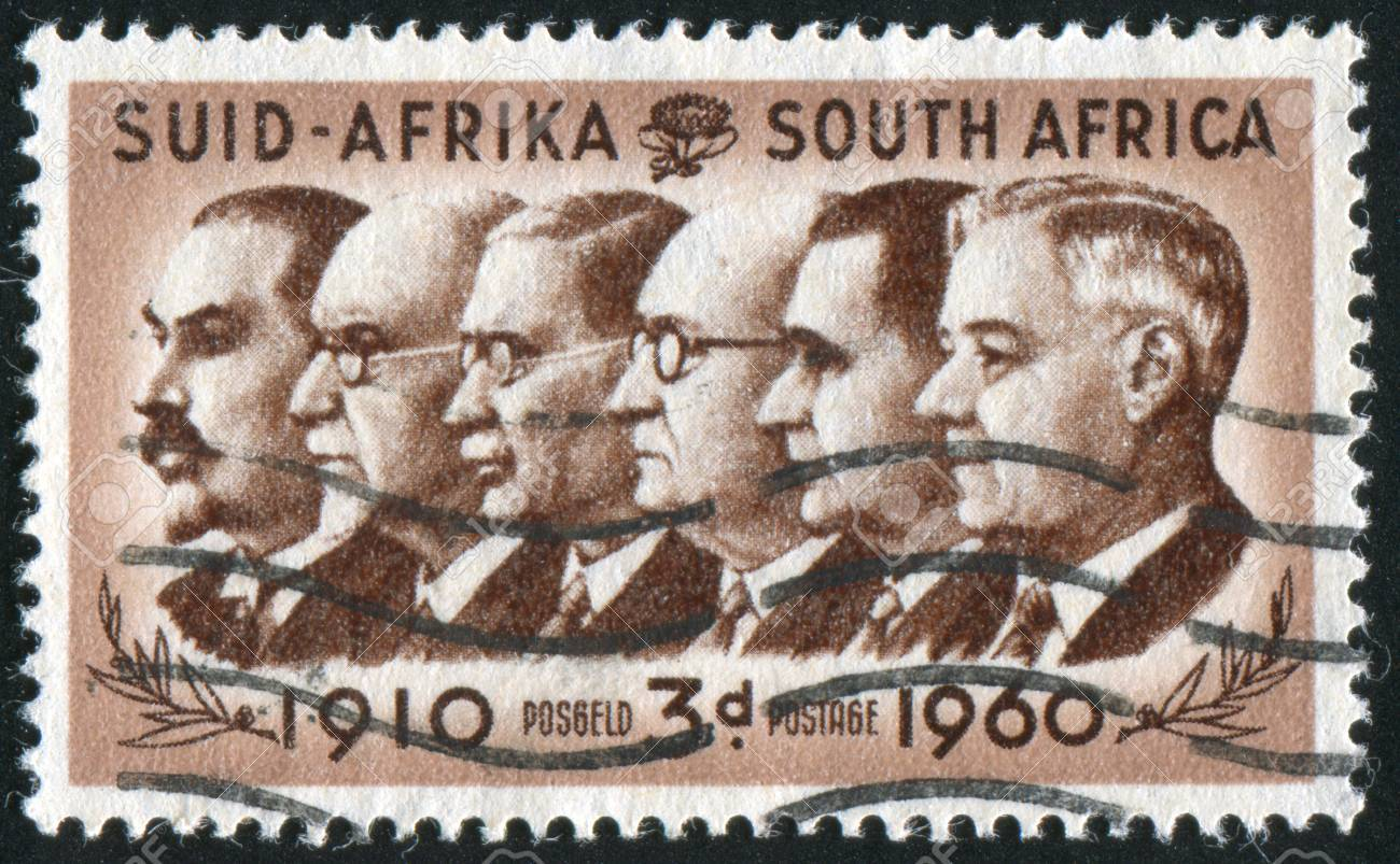 SOUTH AFRICA - CIRCA 1960: stamp printed by South Africa, shows Prime Ministers, circa 1960 Stock Photo - 12354786