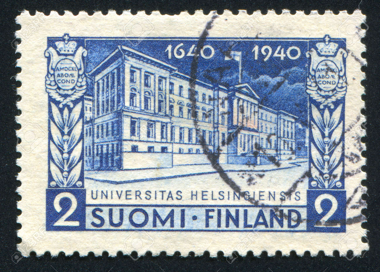 FINLAND - CIRCA 1940: stamp printed by Finland, shows University of Helsinki, circa 1940 Stock Photo - 13980858