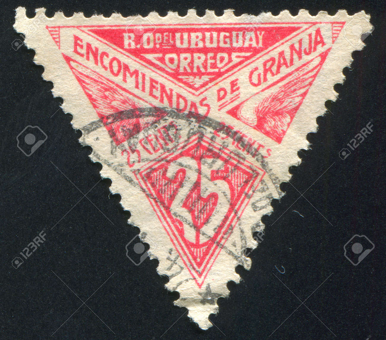 URUGUAY - CIRCA 1929: stamp printed by Uruguay, shows Graphic Design, circa 1929 Stock Photo - 14105235