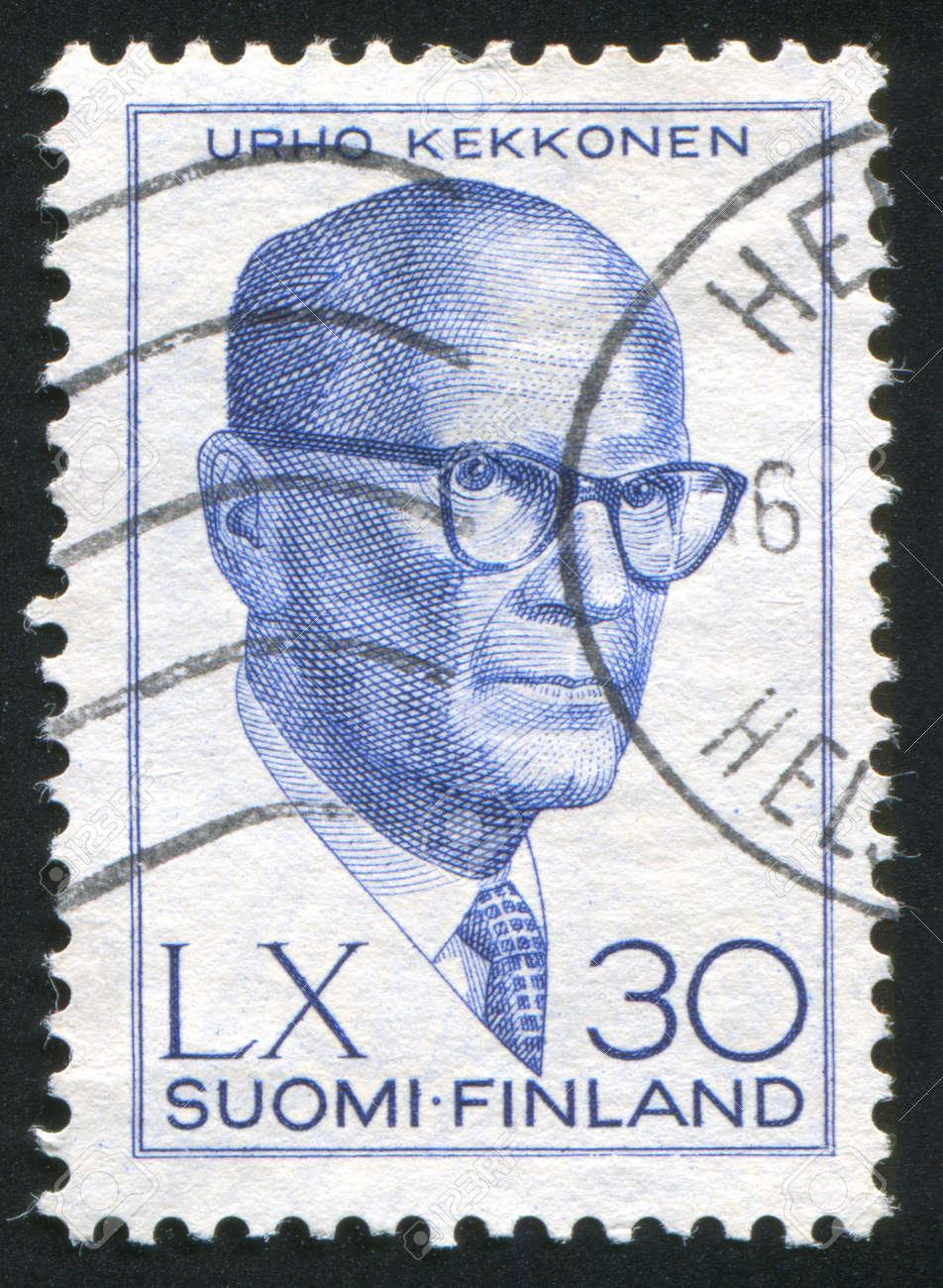 FINLAND - CIRCA 1960: stamp printed by Finland, shows President Urho Kekkonen, circa 1960 Stock Photo - 14224310
