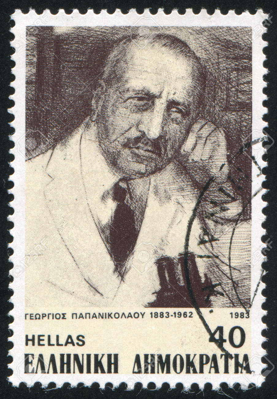 GREECE - CIRCA 1983: stamp printed by Greece, shows George Papanicolaou, medical researcher, circa 1983 Stock Photo - 14224367