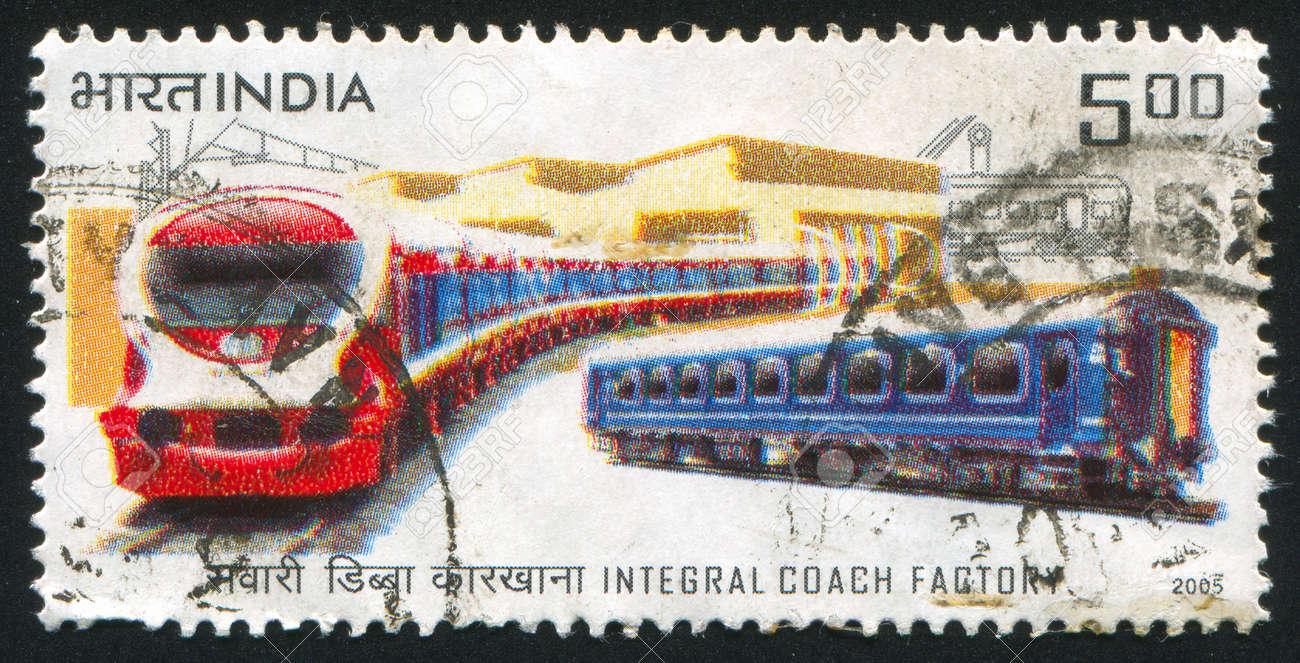 INDIA - CIRCA 2005: stamp printed by India, shows trains, circa 2005 Stock Photo - 15508900