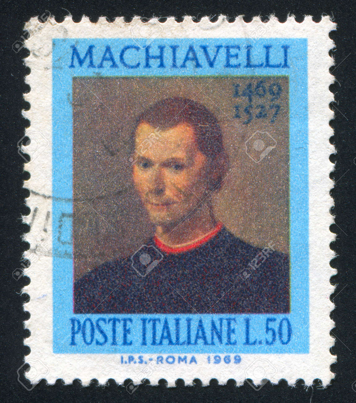 ITALY - CIRCA 1969: stamp printed by Italy, shows Niccolo Machiavelli, circa 1969 Stock Photo - 16223804