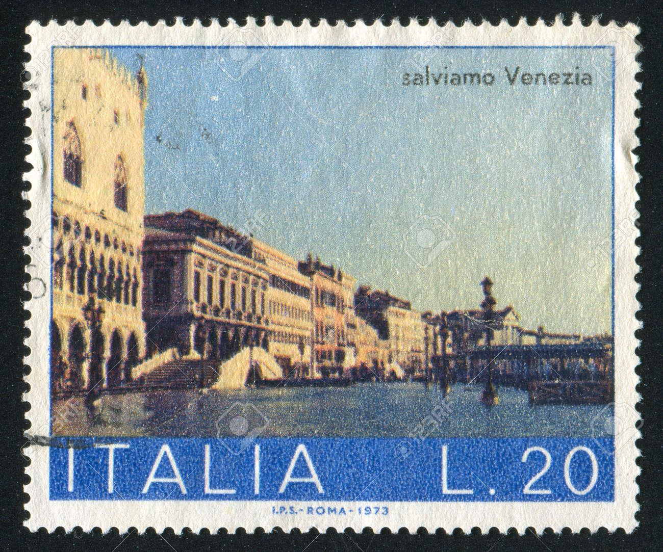 ITALY - CIRCA 1973: stamp printed by Italy, shows Schiavone Shore, circa 1973 Stock Photo - 16223783