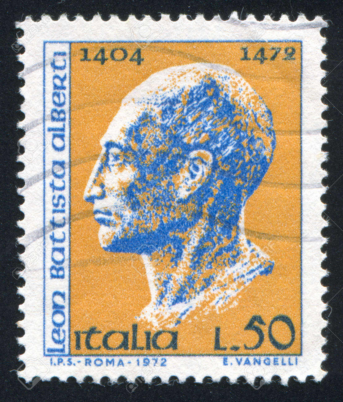 ITALY - CIRCA 1972: stamp printed by Italy, shows Leon Batista Alberti, circa 1972 Stock Photo - 16285120