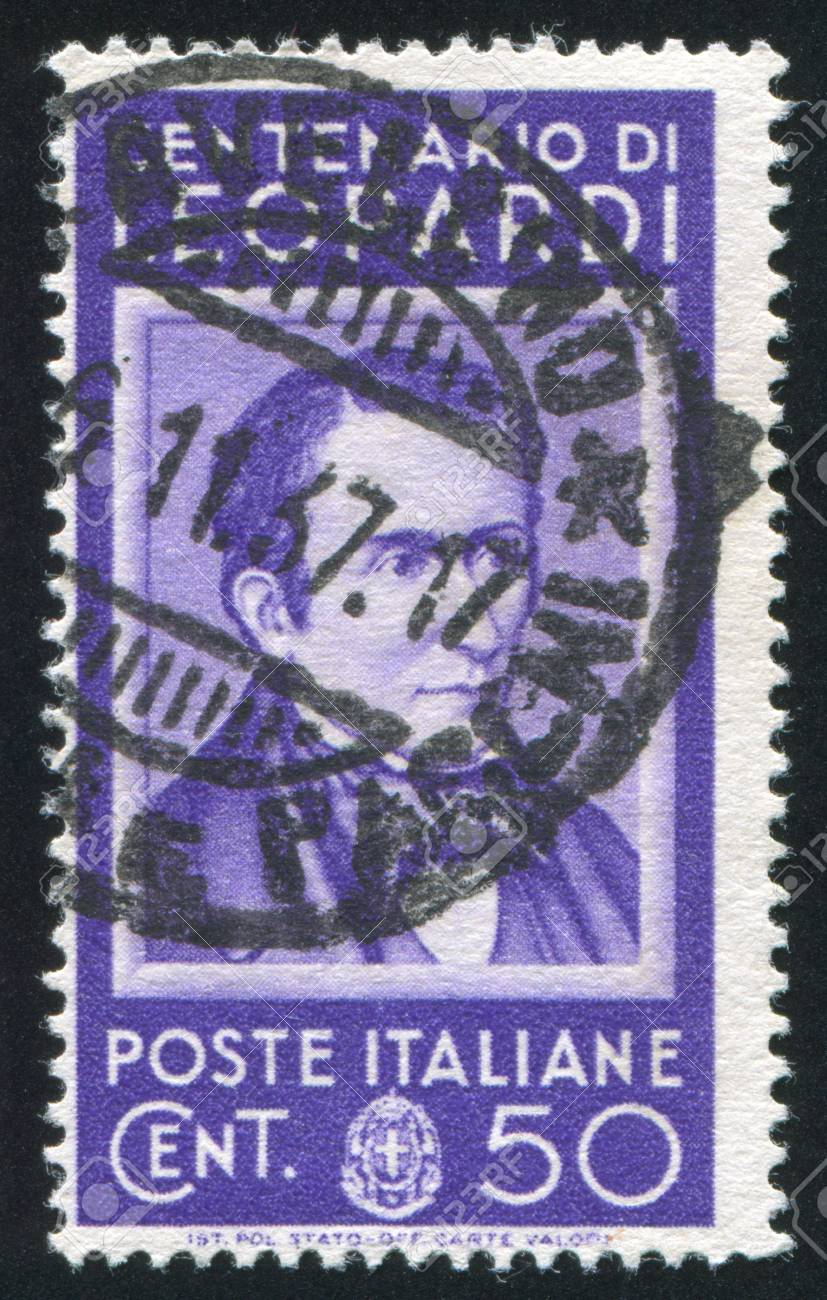 ITALY - CIRCA 1937: stamp printed by Italy, shows Count Giacomo Leopardi, circa 1937 Stock Photo - 16285000