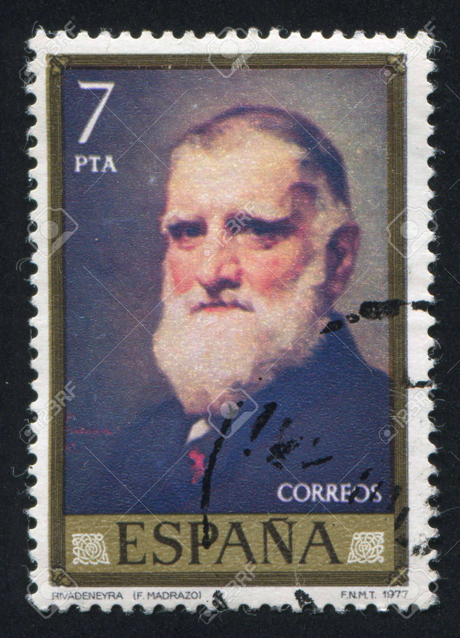 SPAIN - CIRCA 1977: stamp printed by Spain, shows portrait of Rivadeneyra, circa 1977 Stock Photo - 16285135