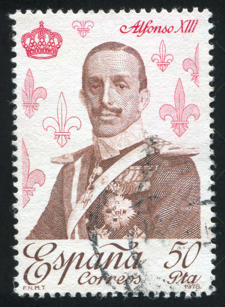 SPAIN - CIRCA 1978: stamp printed by Spain, shows Alfonso XIII, circa 1978 Stock Photo - 17145493