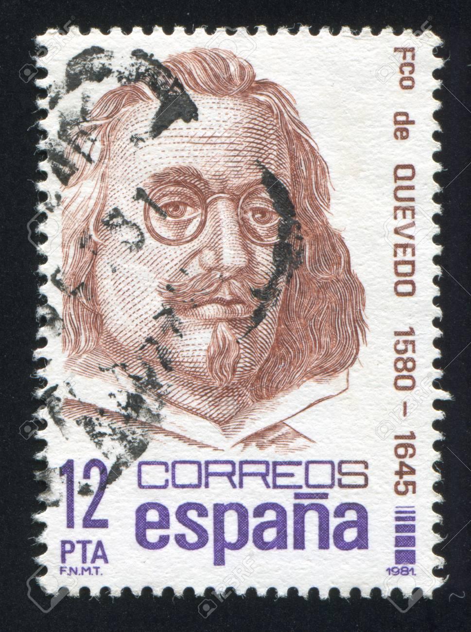 SPAIN - CIRCA 1981: stamp printed by Spain, shows Francisco de Quevedo, circa 1981 Stock Photo - 17145693