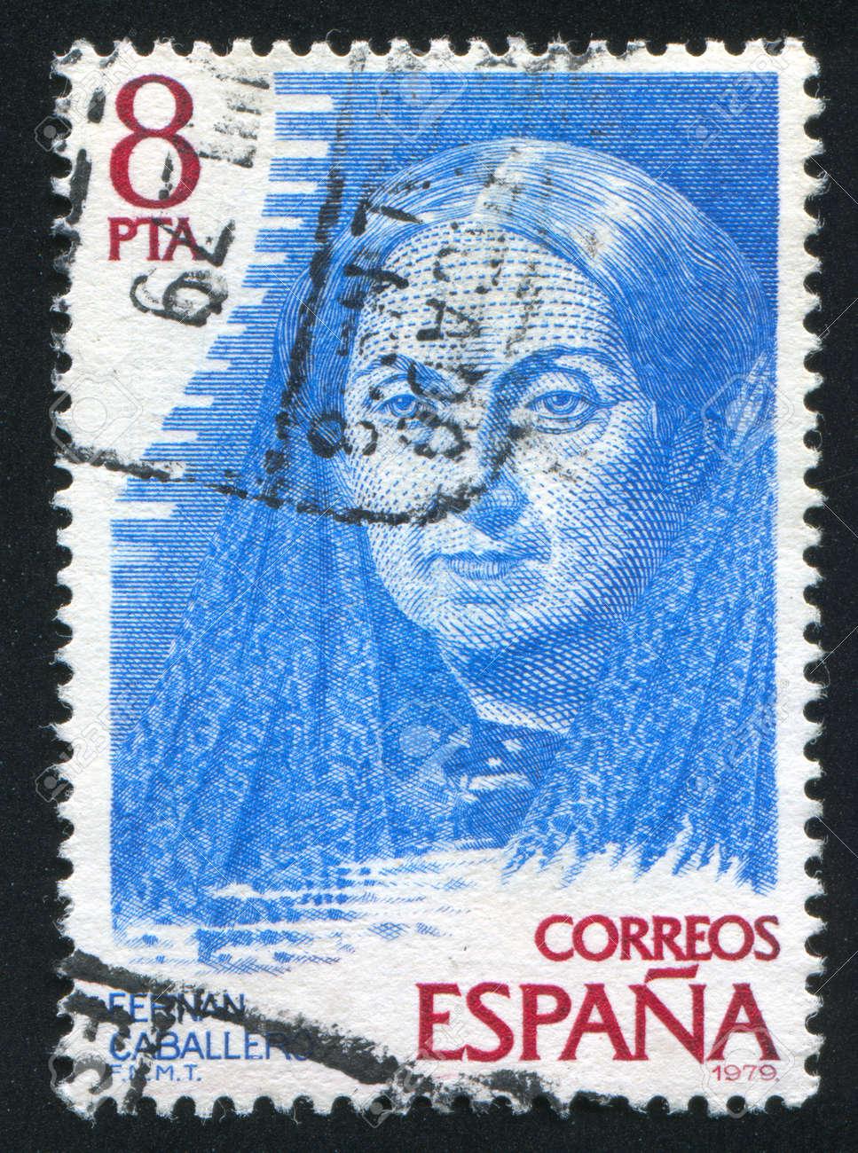 SPAIN - CIRCA 1979: stamp printed by Spain, shows Fernan Caballero (pen name of Cecilia Bohl de Faber), circa 1979 Stock Photo - 17145489