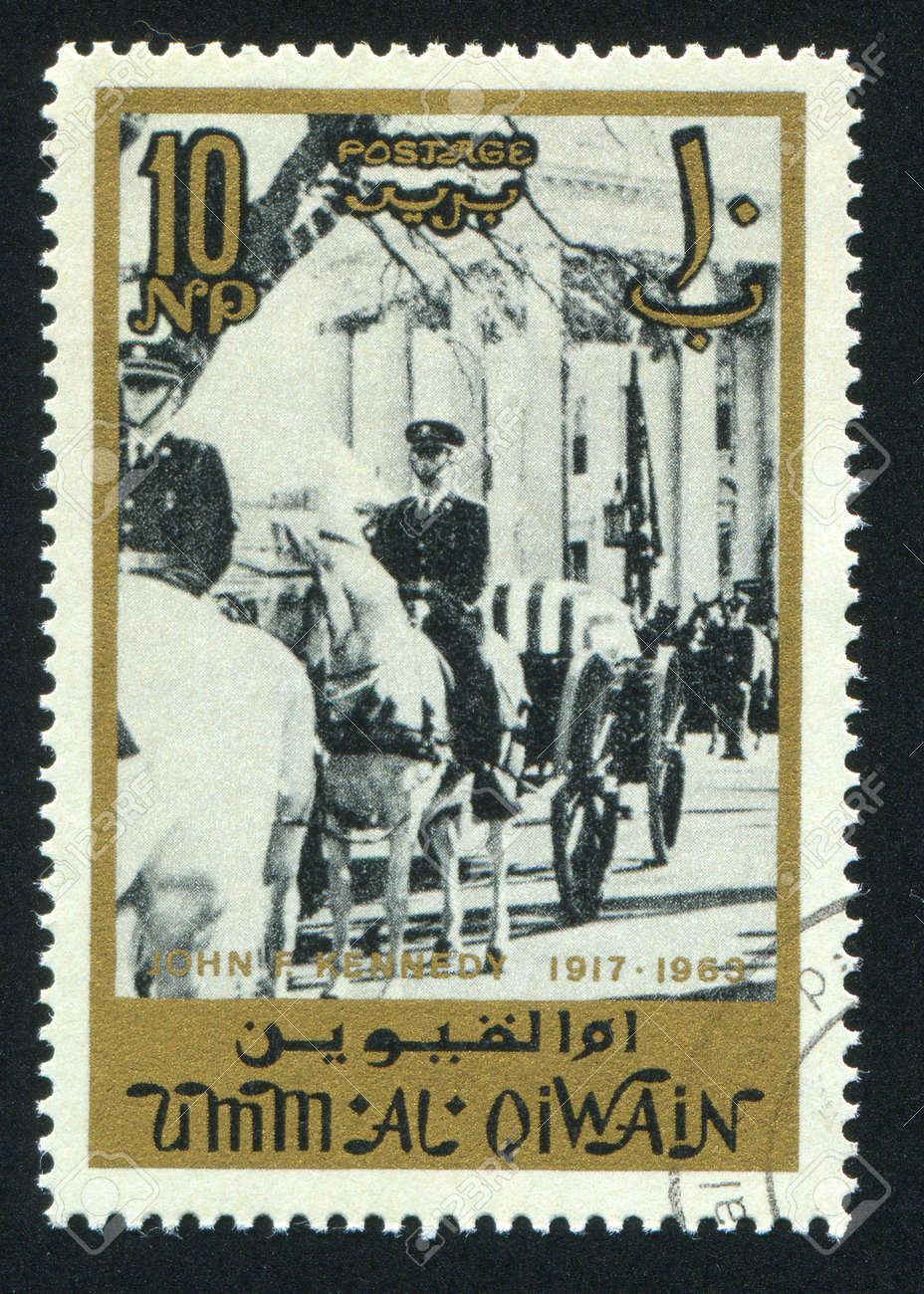 UMM AL-QUWAIN - CIRCA 1972: stamp printed by Umm al-Quwain, shows a Procession, circa 1972 Stock Photo - 17145572