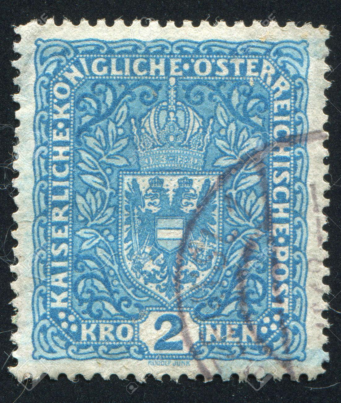 AUSTRIA - CIRCA 1916: stamp printed by Austria, shows crown and eagle, circa 1916 Stock Photo - 17837865