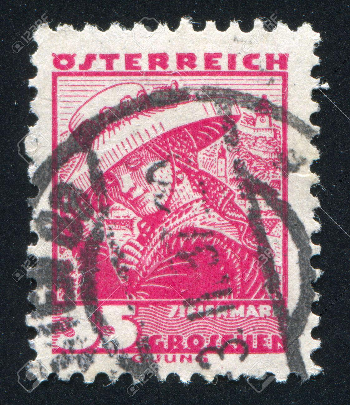AUSTRIA - CIRCA 1932: stamp printed by Austria, shows Costumes in Styria, circa 1932 Stock Photo - 17837834