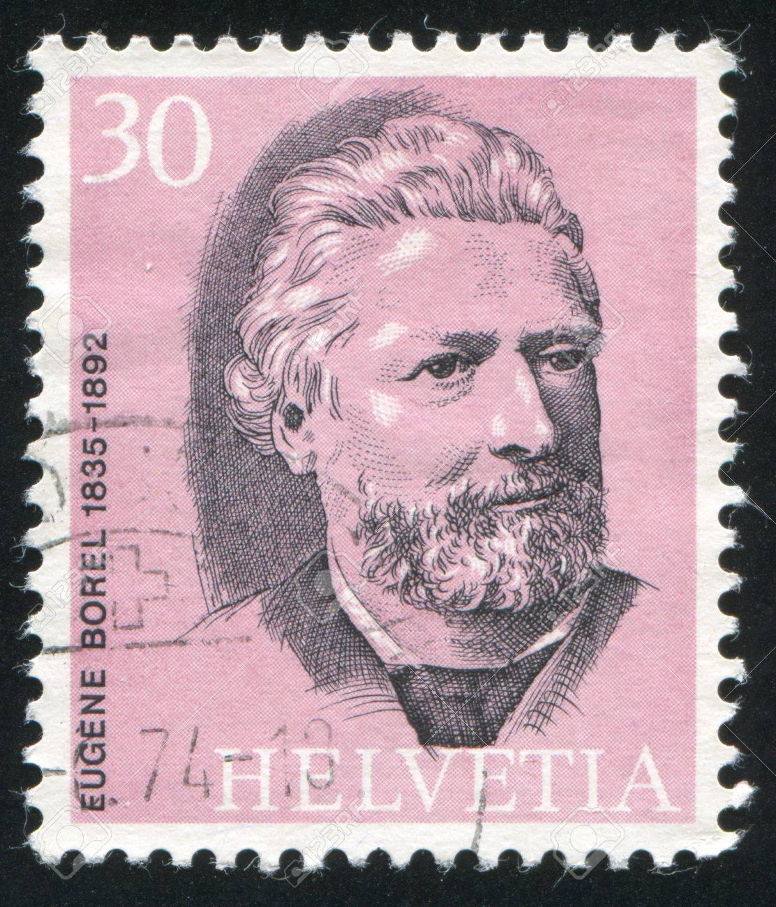 SWITZERLAND - CIRCA 1974: stamp printed by Switzerland, shows Eugene Borel, circa 1974 Stock Photo - 17809663