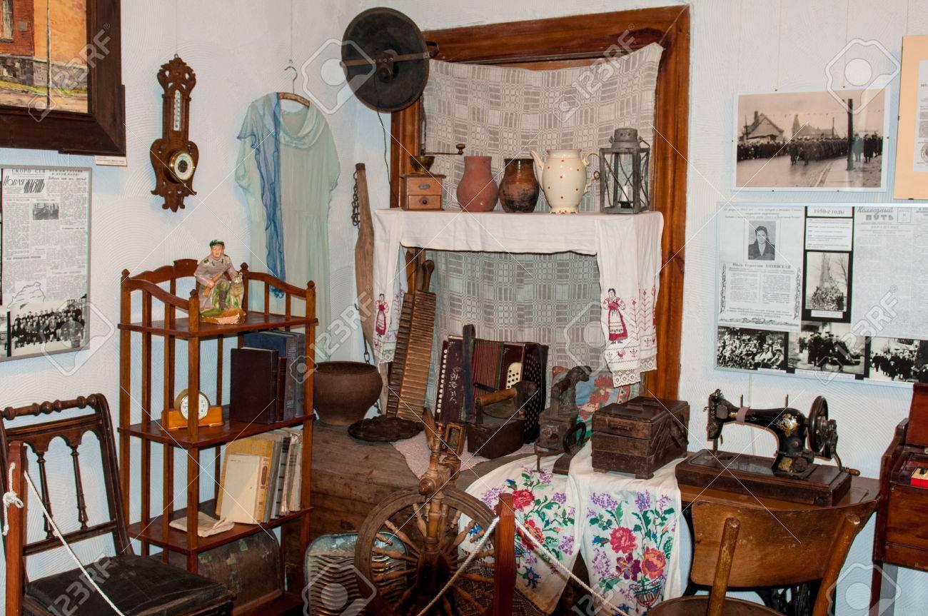 Die Museumsausstellung. Das Alte Interieur. Vintage Room. Antike ...