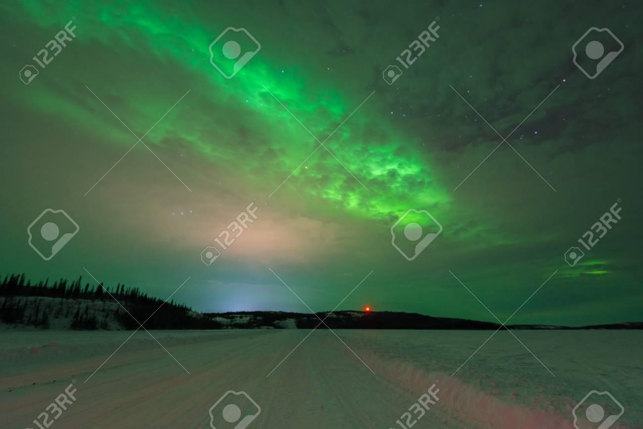 Northern Lights, Yellowknife, Northwest Territories, Canada Stock Photo    95097207