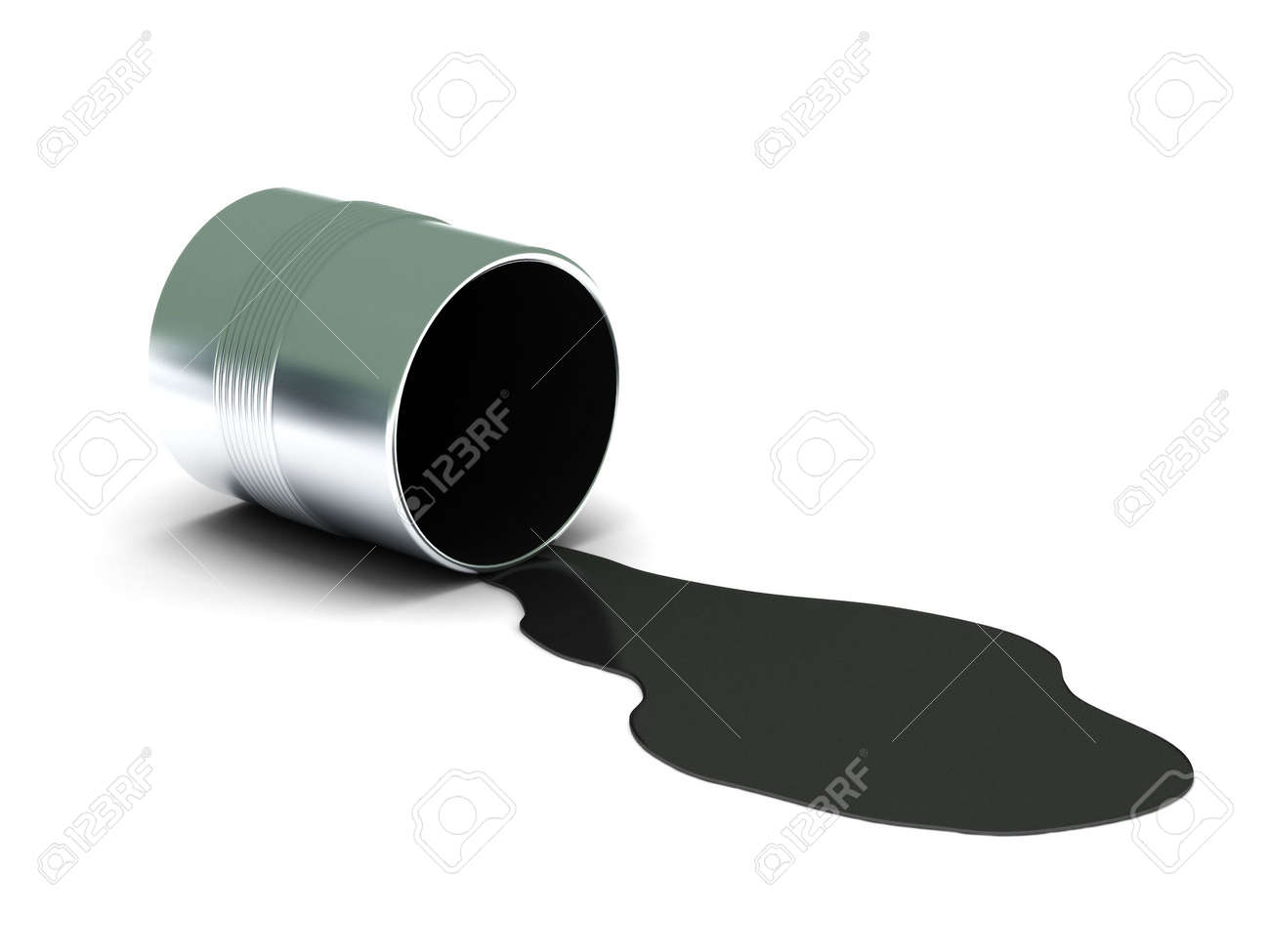 Black spilled paint isolated on white background. High quality 3d render. Stock Photo - 6973321
