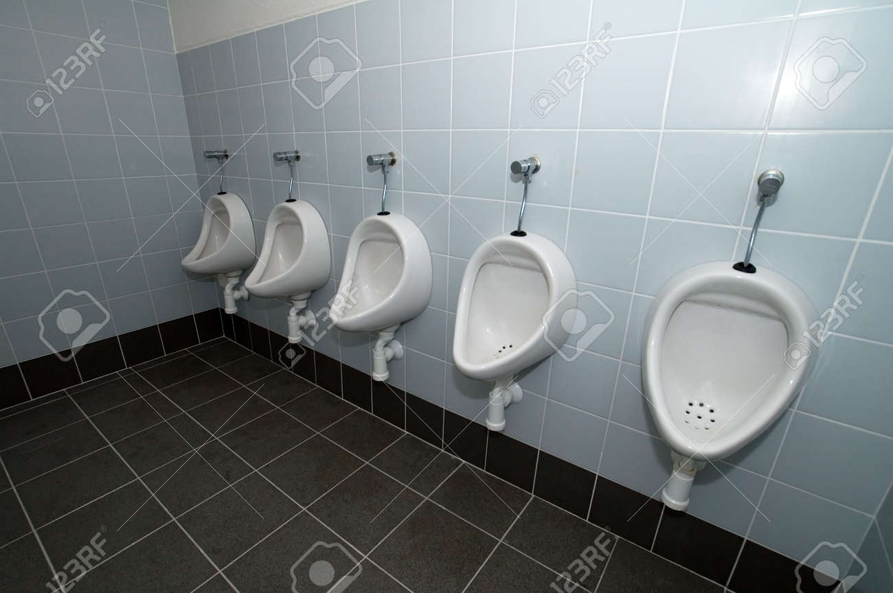 White Man Toilets, Tiles On Floor And Walls Stock Photo, Picture And ...