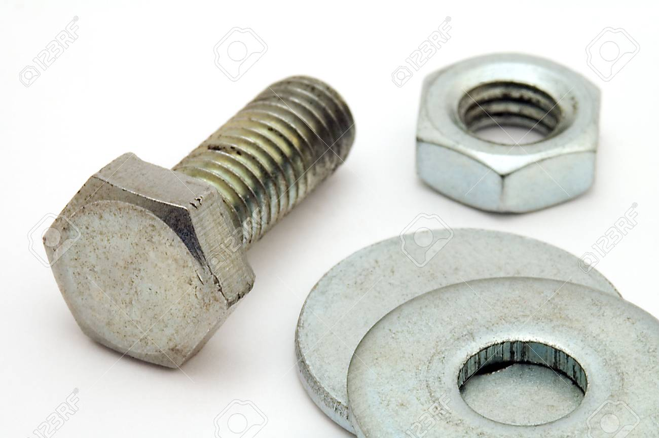 small industrial objects on white background Stock Photo - 3402267