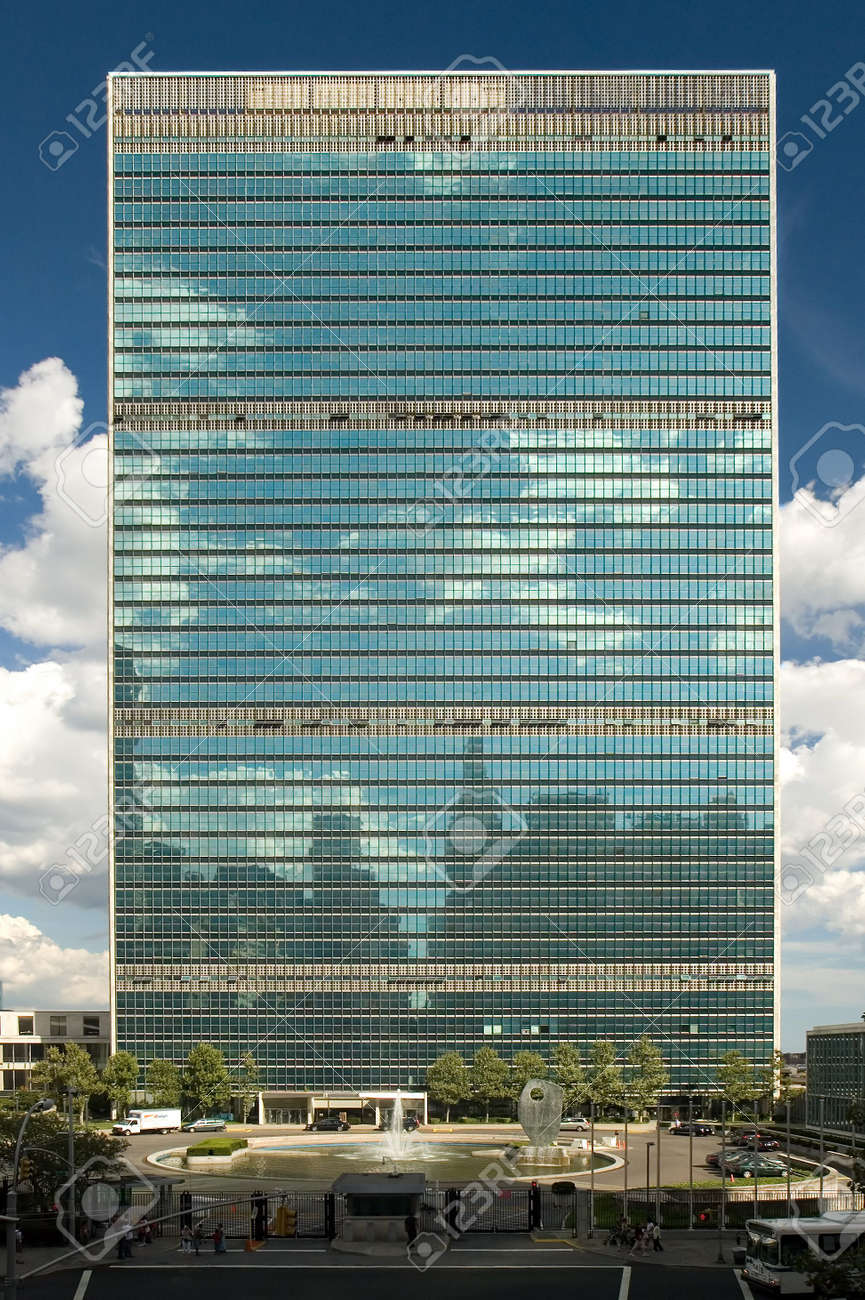 Modern Architecture Of The United Nations Headquarters In New