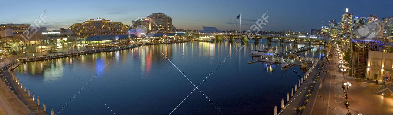 21 SEPTEMBER 2006 - SYDNEY, AUSTRALIA -  Darling Harbour night panorama photo Stock Photo - 6897640