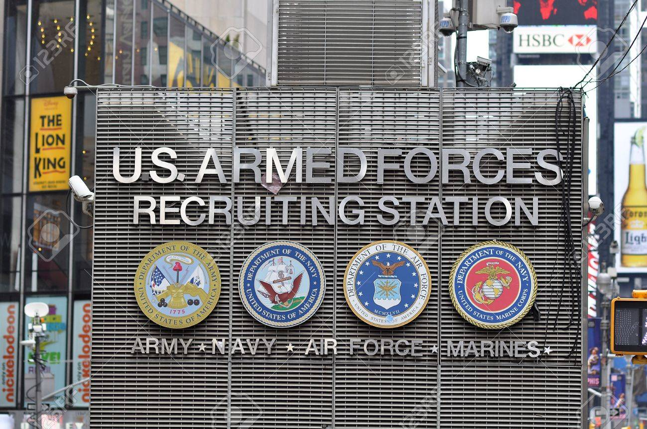 31. MARCH 2011 - TIMES SQUARE, NEW YORK CITY, USA - US Armed Forces recruiting station in center of Times Square, New York City. Photo taken on 31 march 2011. Stock Photo - 11305692