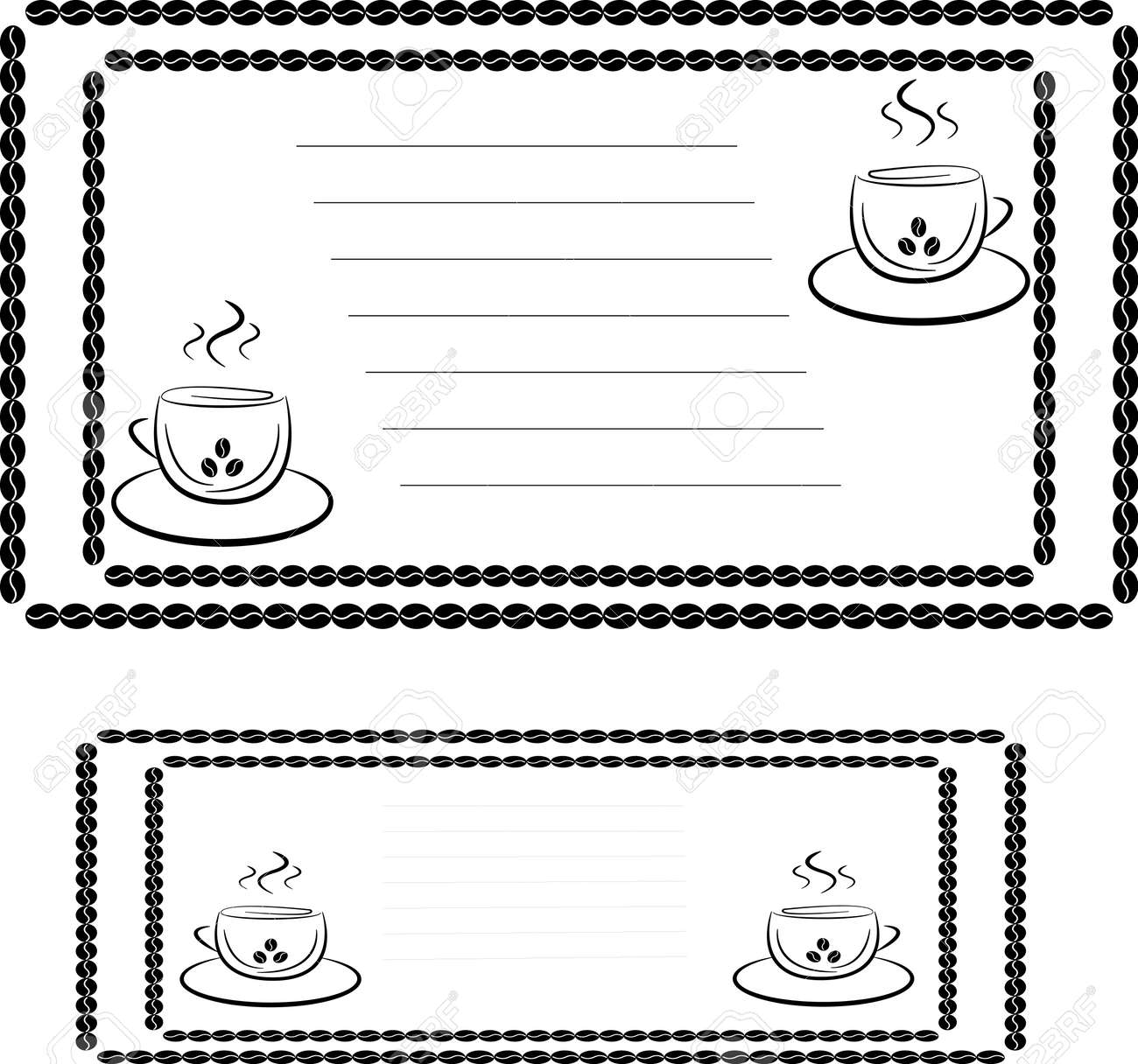 invitation template for a coffee house or cafe two cups and