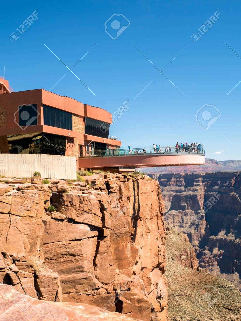 Skywalk Grand Canyon West Rim Arizona Az Usa