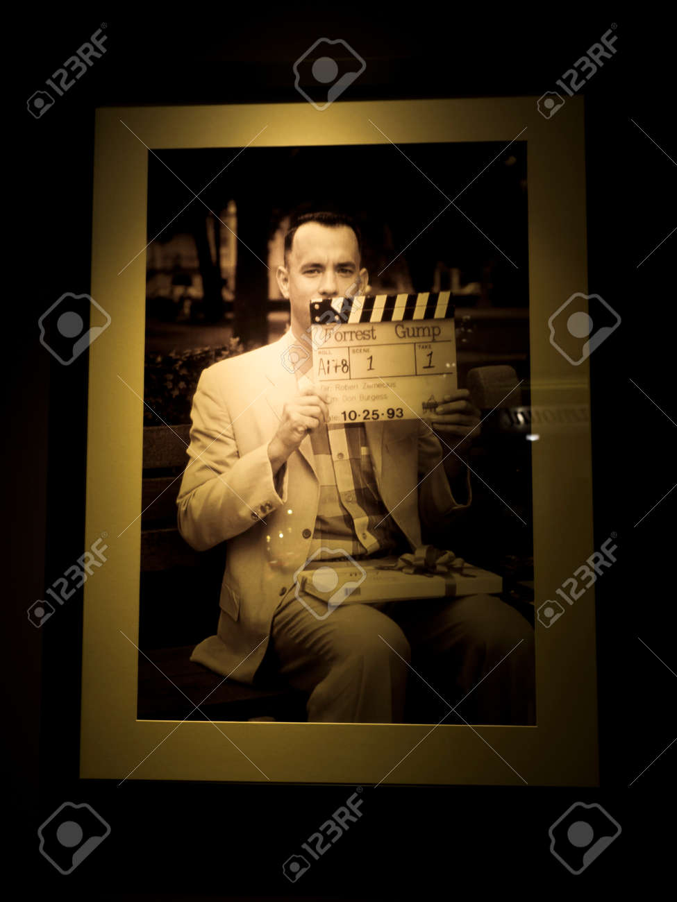 Tom Hanks picture on the Forrest Gump movie at Paramount Pictures