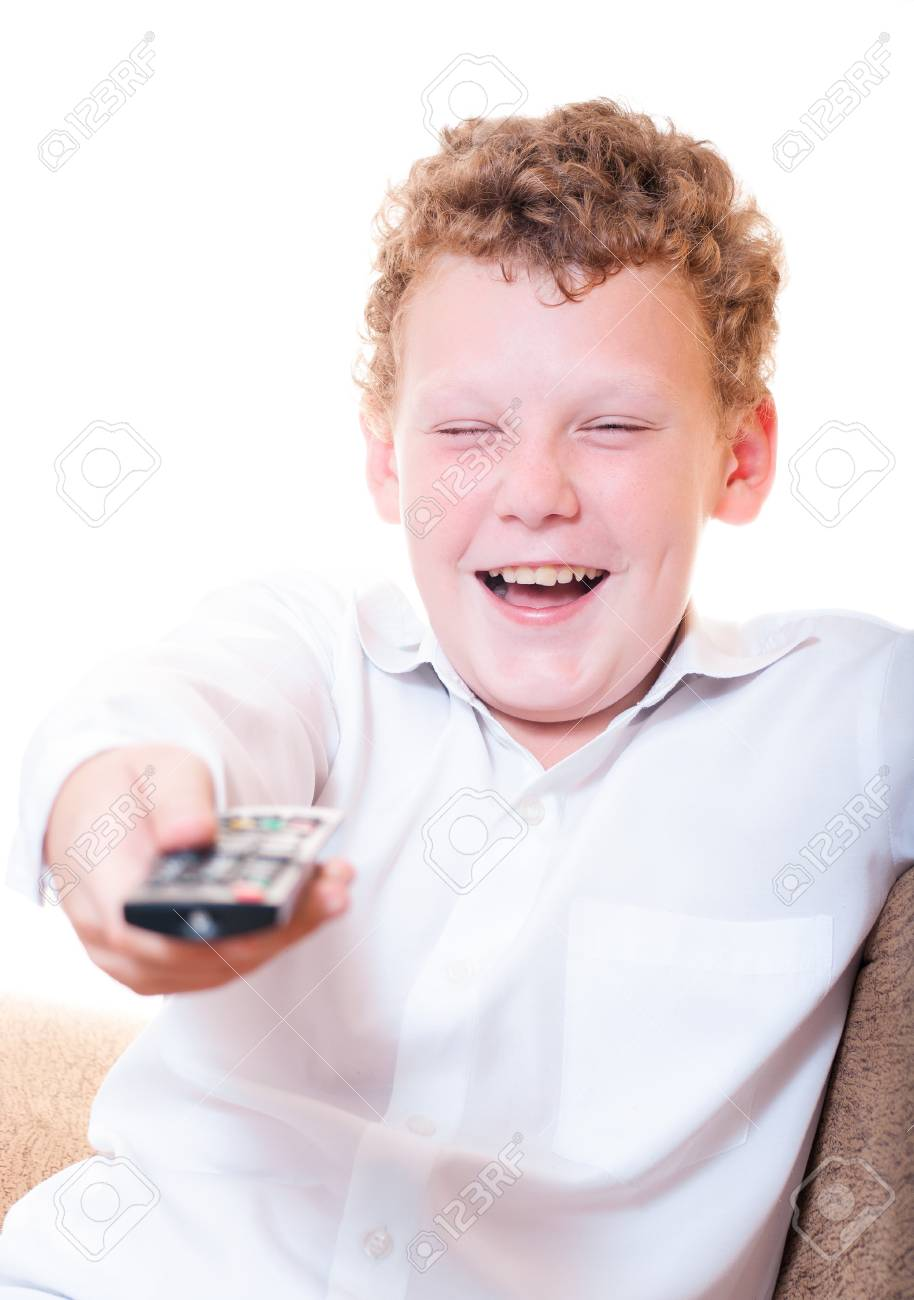 A teenager with a remote control Stock Photo - 14188749