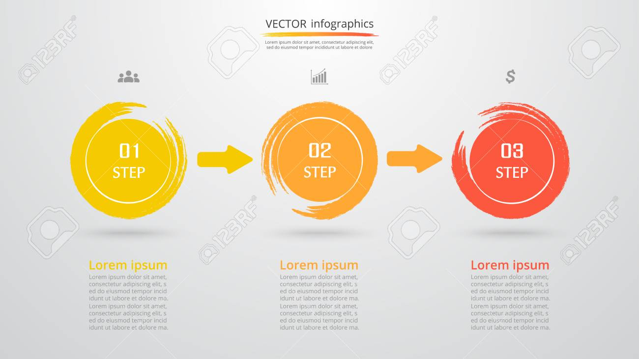 Abstract infographic template with 3 steps for success business abstract infographic template with 3 steps for success business template with three options for presentation ccuart Image collections