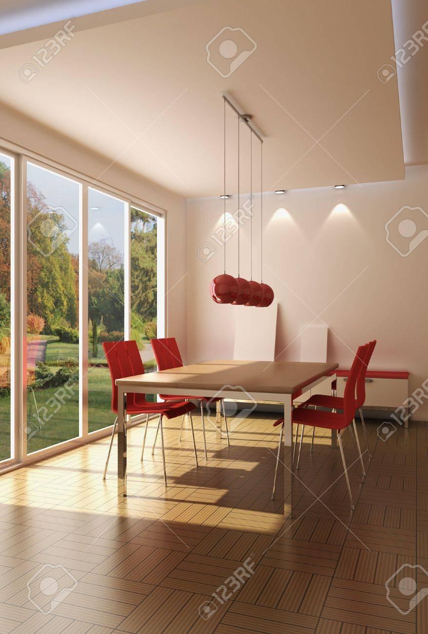 3d rendering modern dining room Stock Photo - 5352639