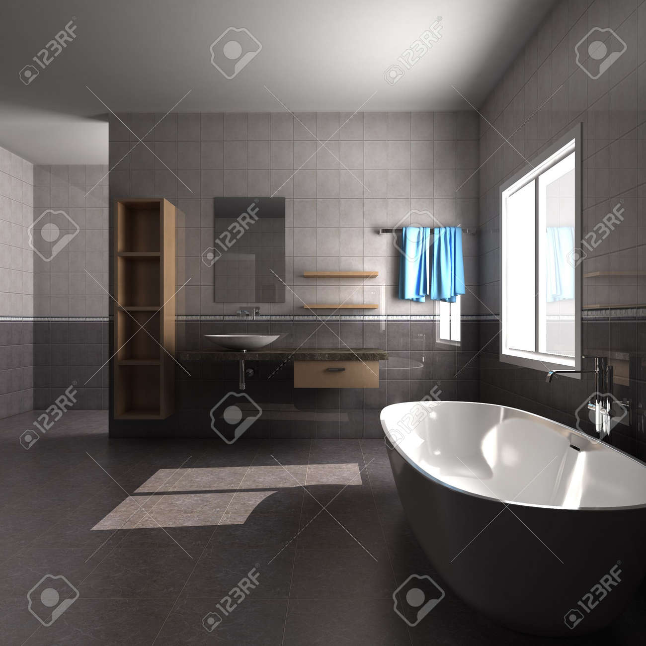 3d rendering interior of a bathroom Stock Photo - 5402039