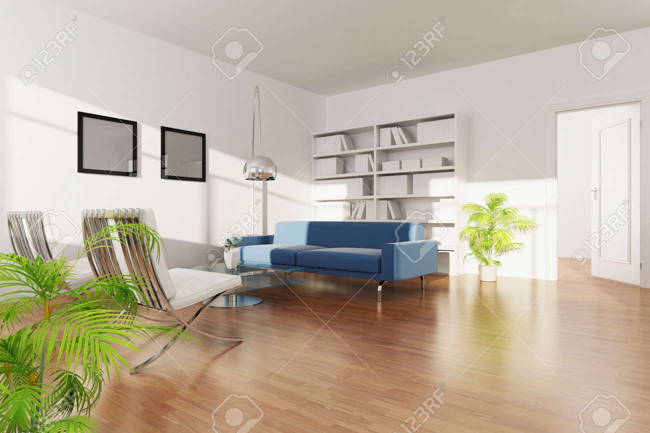 3d rendering interior of a living room Stock Photo - 5703633