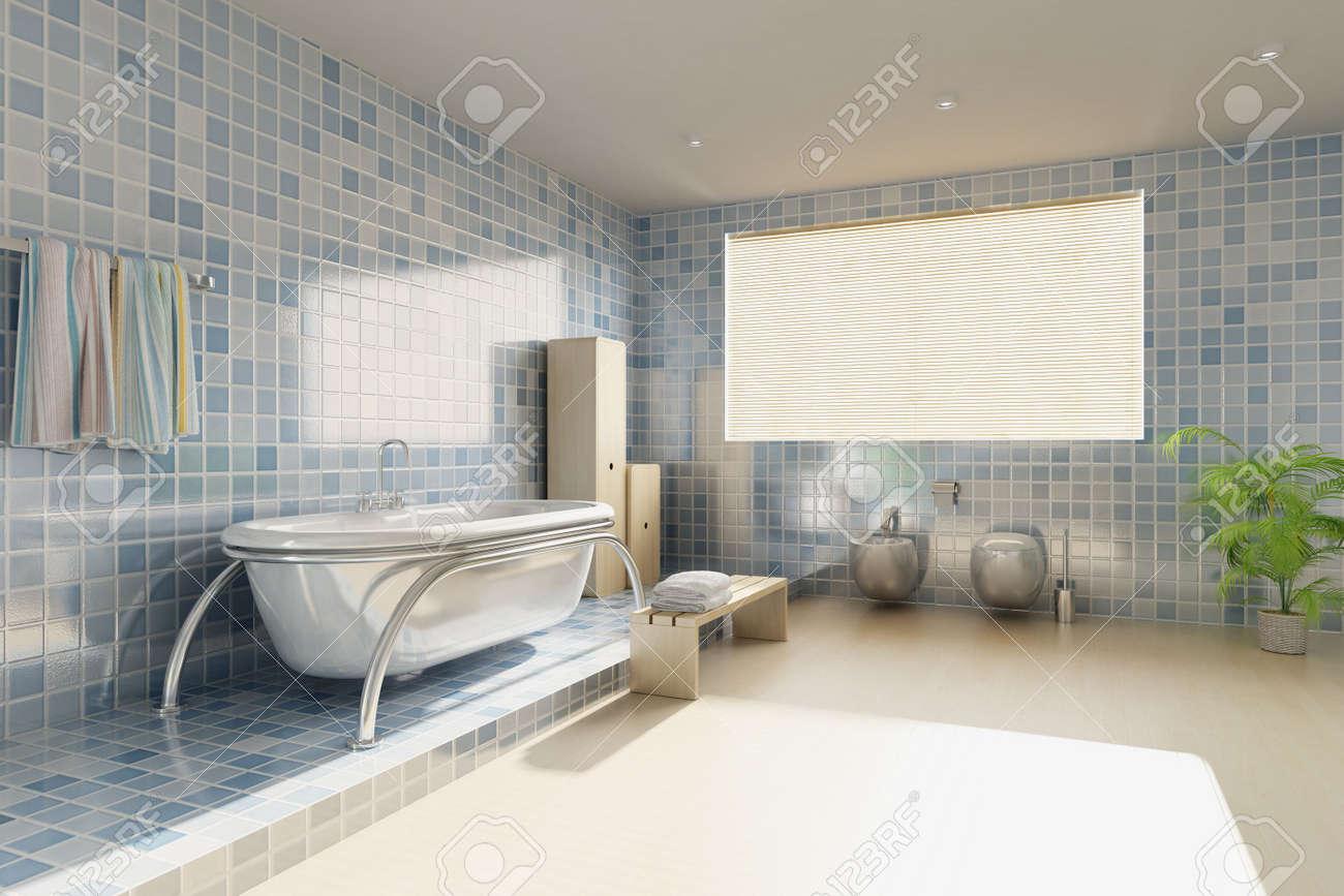 3d rendering a modern bathroom Stock Photo - 5765069