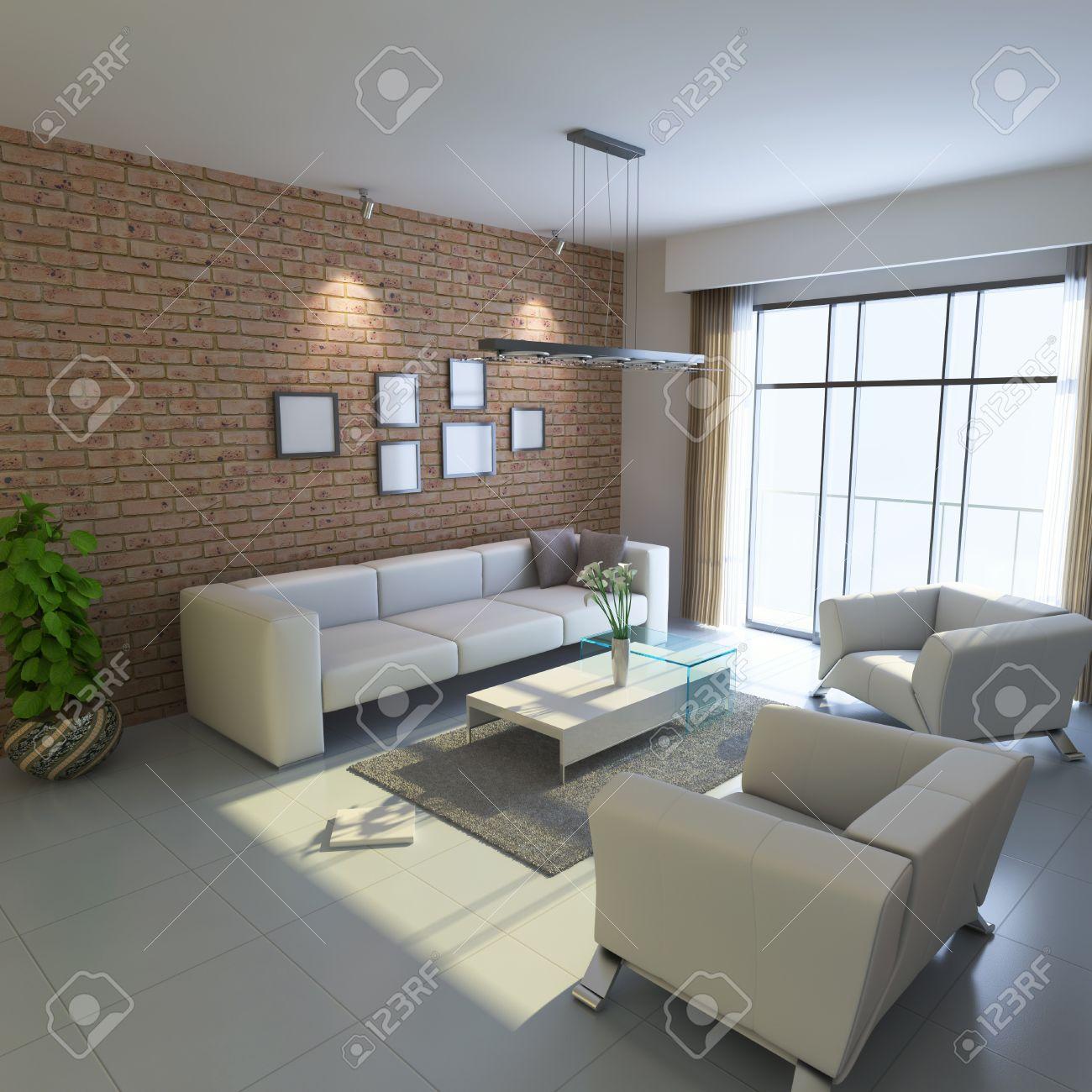 Hauseinrichtung  Hauseinrichtung Room.3d Rendern Lizenzfreie Fotos, Bilder Und ...