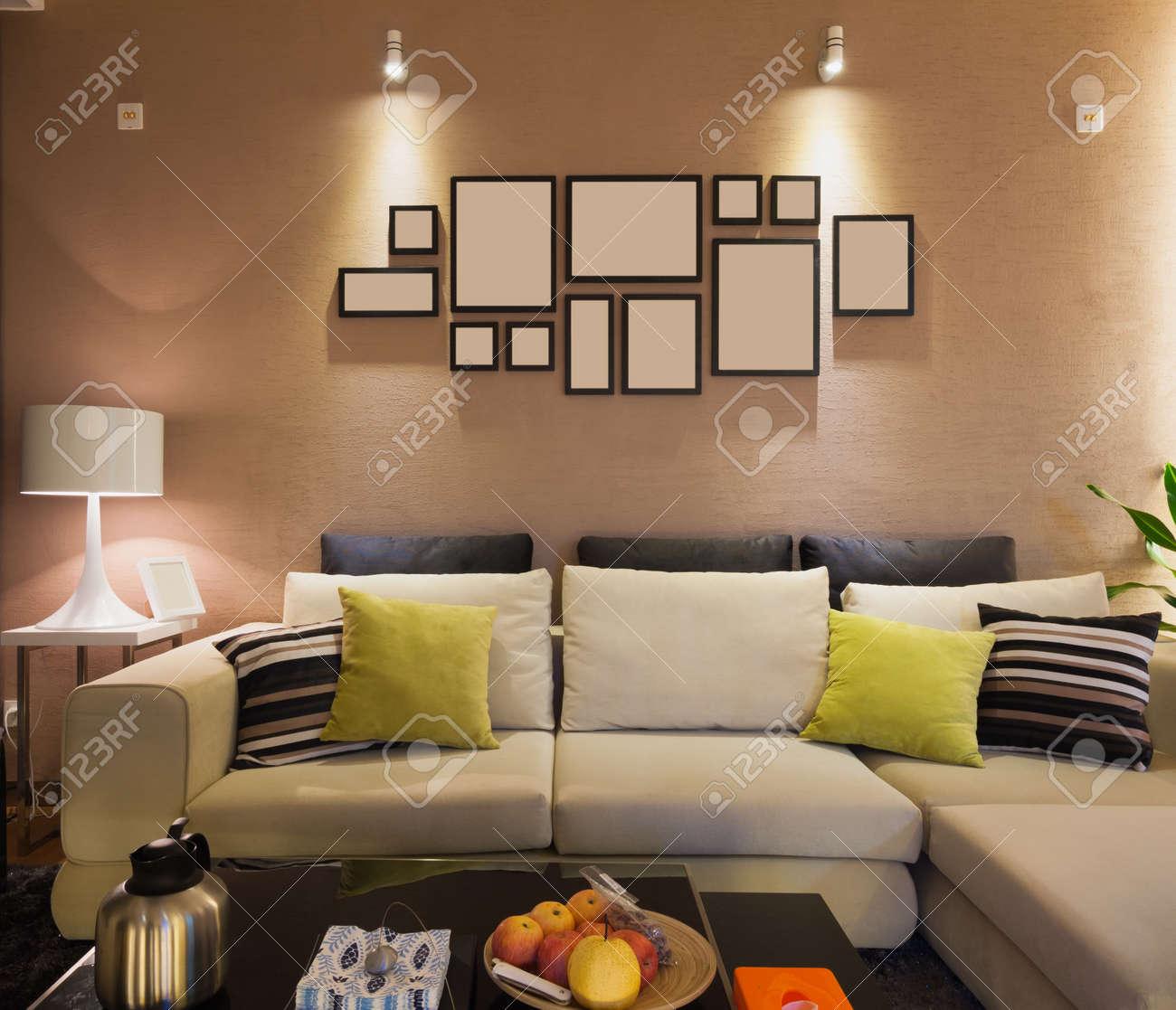 modern living room Standard-Bild - 20020386