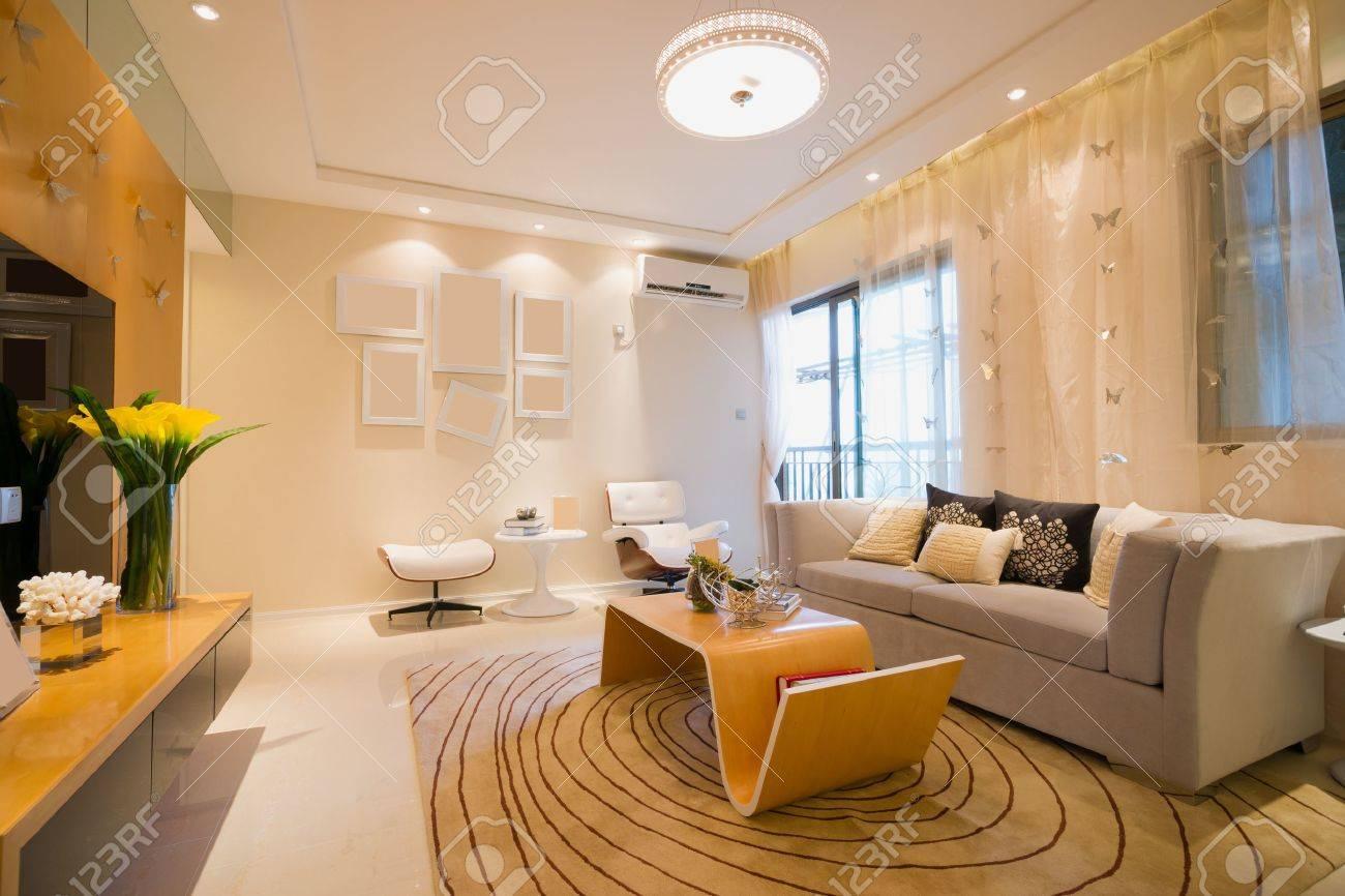 living room with modern style Standard-Bild - 20023964