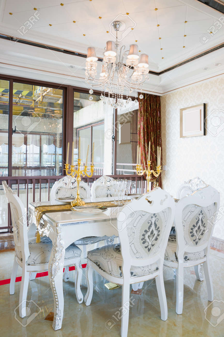 The Dining Room With Luxury Decoration And Nice Furniture Stock Photo Picture And Royalty Free Image Image 21379726