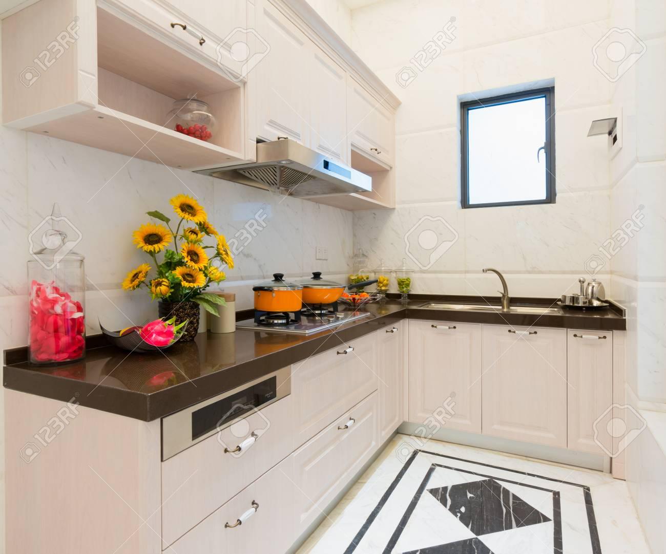 modern kitchen with nice decoration Stock Photo - 24283175
