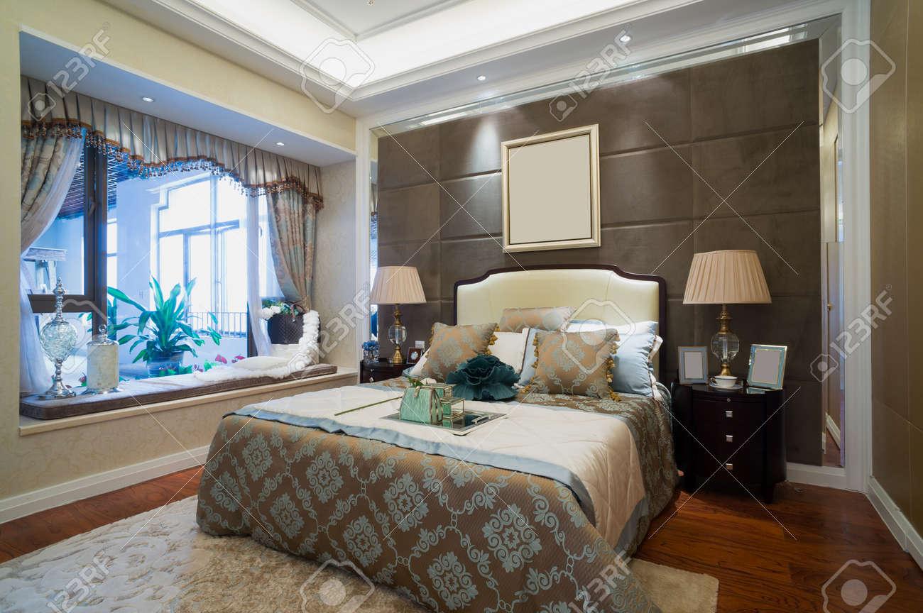 Decorazioni Camera Da Letto camera da letto di lusso con bella decorazione