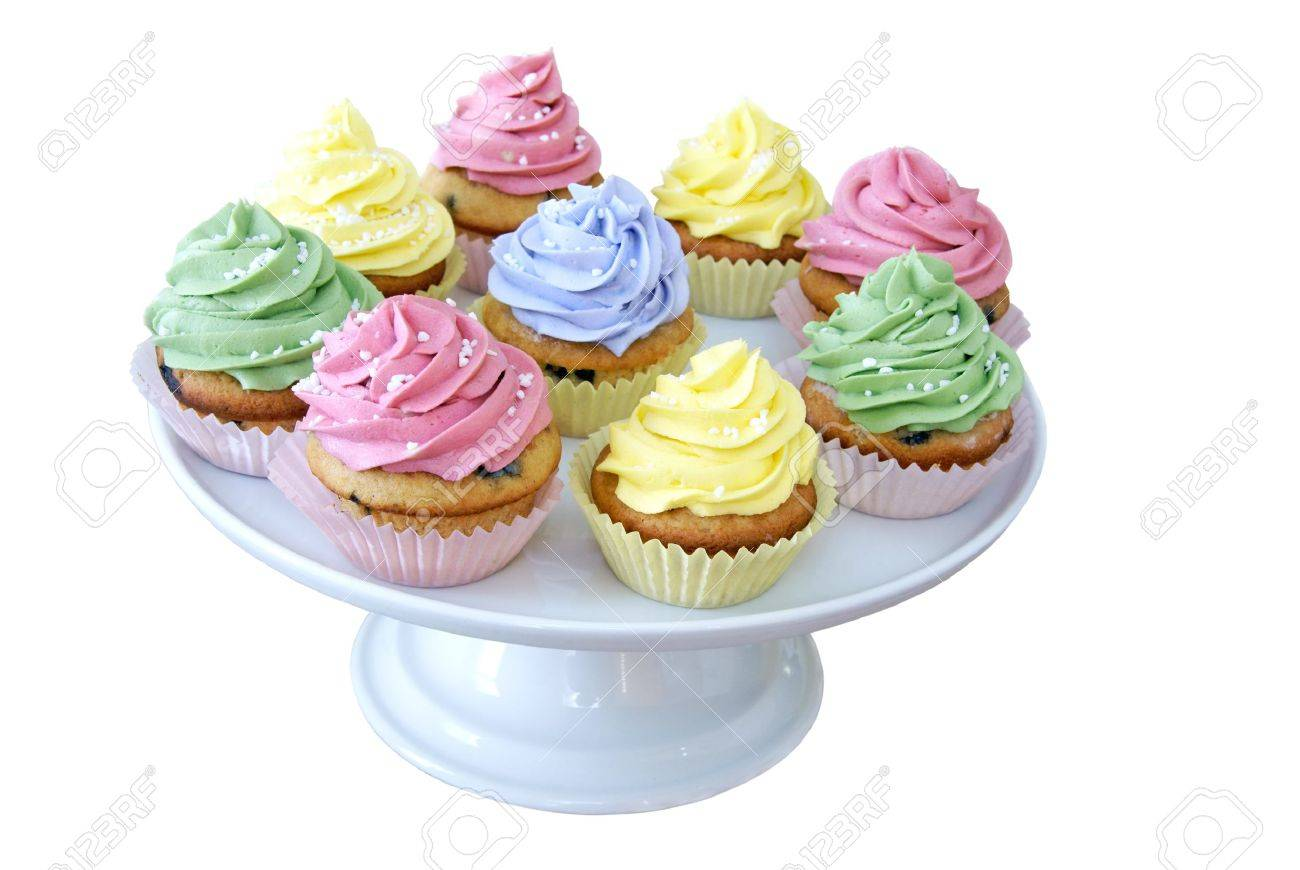 Cupcakes On A Cakestand Stock Photo Picture And Royalty Free Image